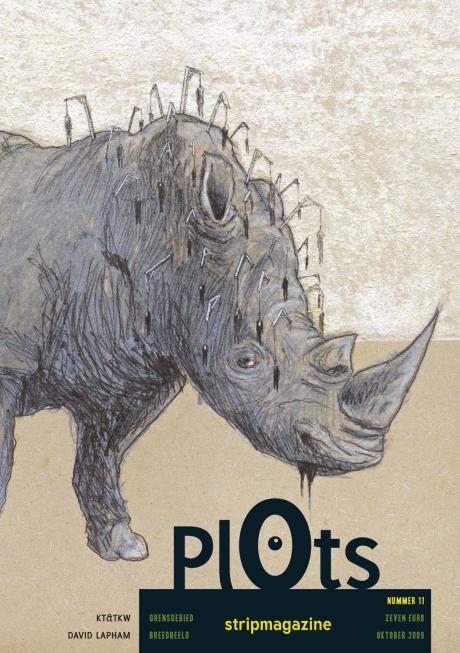 De voorpagina van de elfde editie van Plots Stripmagazine.
