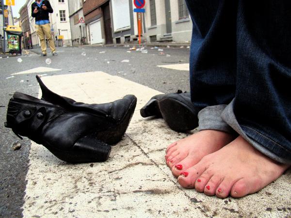 Vrouwen voeten likken