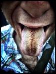 Deze tong is niet meer geschikt voor hete kussen, maar men kan er wel kaas op raspen.