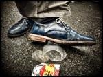 De schoenen van jazzcat Vos behoren tot het chicste wat deze Feesten al te zien kregen.