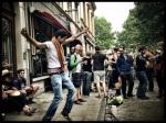 Er wordt gedanst en gedronken. De Gentse Feesten zijn officieel voorbij, maar het volk feest voort.